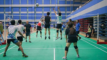 International College held a volleyball tournament for students and teachers